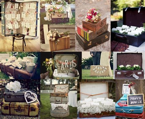 Vintage Themed Decor by Vintage Suitcase Wedding Ideas Simply Peachy Event