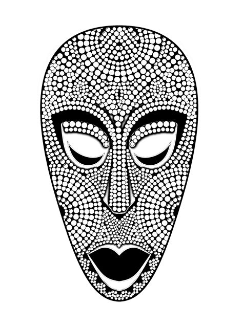 printable african mask african mask africa coloring pages for adults