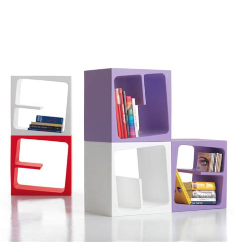 Modular Bookcase Modular Versatile Bookcase In Catchy Colors Quby By B