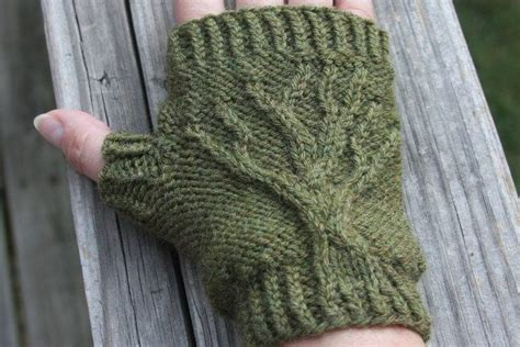 knitting tree tree of fingerless gloves knit pattern pdf