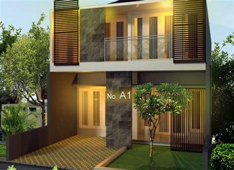 desain rumah kotak  lantai modern minimalis ide kreasi rumah