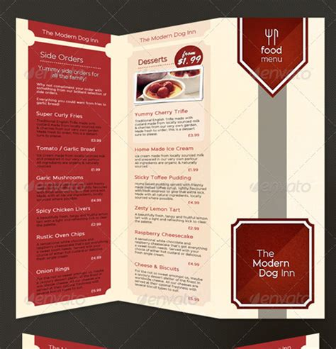 folded menu template 25 high quality restaurant menu design templates web