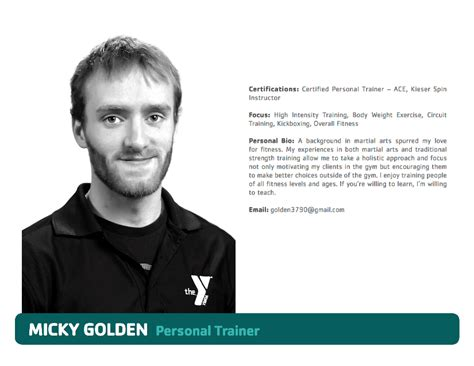 bio exles for personal trainers south shore ymca quincy meet our personal trainers