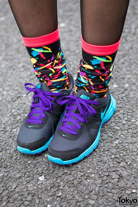 nike socks colorful nike sneakers colorful socks tokyo fashion news