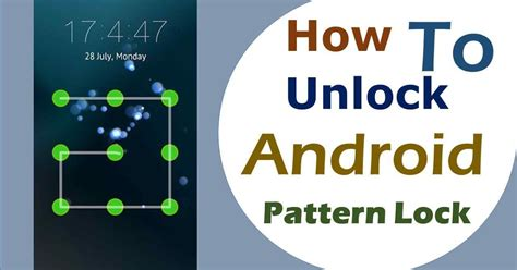 how to unlock android blocked pattern tech