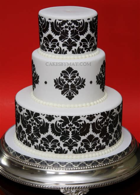 Wedding Cake Patterns by Damask Pattern Wedding Cake A Photo On Flickriver