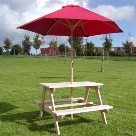 kids picnic bench kids picnic bench parasol mccarthys fuels builders