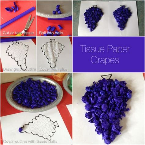 Tissue Paper Leaf Craft - paper leaves tissue paper and vines on