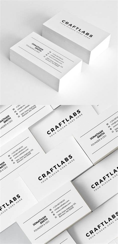 minimalist business card template psd 25 minimal clean business cards psd templates design