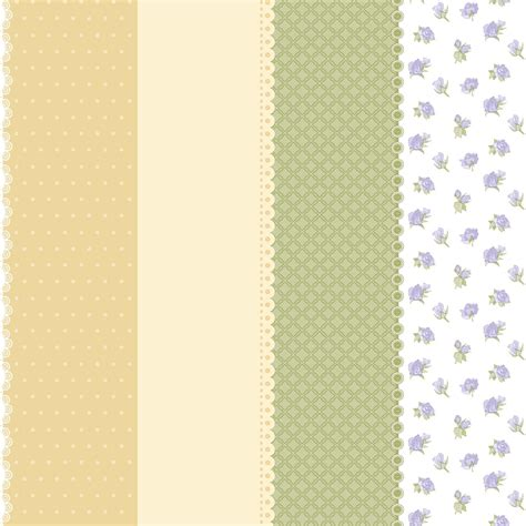 beige green wallpaper non woven dots squared flowers yellow beige