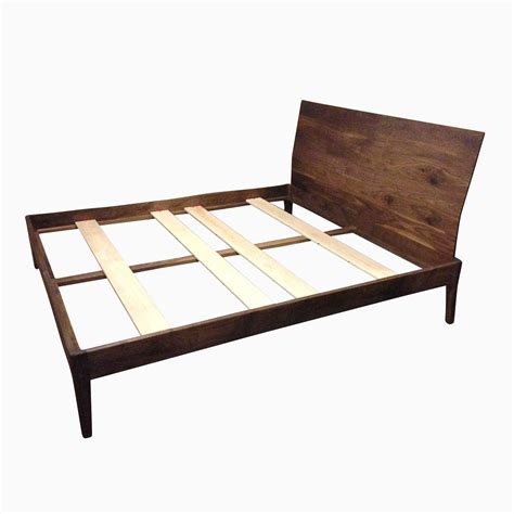 custom platform bed handmade walnut platform bed by goodwood design