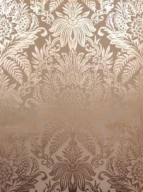Wallpaper Luxe crown luxe signature foil wallpaper m1389 gold