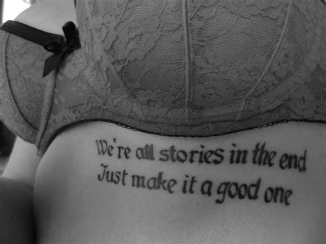 quote tattoo placement doctor who quote tattoos