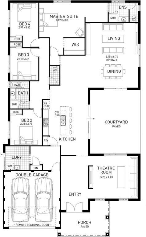 The North Hton Four Bed Single Storey Home Design House Plans Single Storey Australia