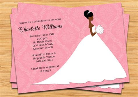 printable african american bridal shower invitations african american bridal shower invitation by eventfulcards
