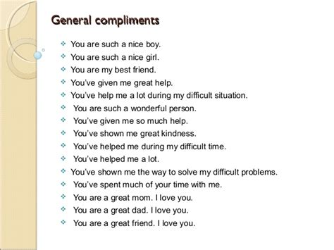 Complimenting And Replying To Compliments