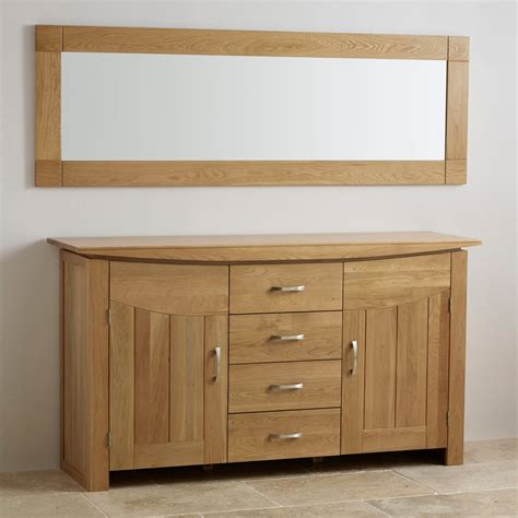 contemporary natural solid oak wall mirror mm  mm