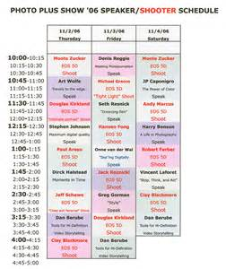 Presentation Schedule Template by News Canon S Photoplus Expo Nyc Booth Presentation