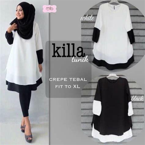 Tunik Blouse Muslim Lamia 3in1 atasan muslim tunik cardigan killa tunik model baju gamis terbaru