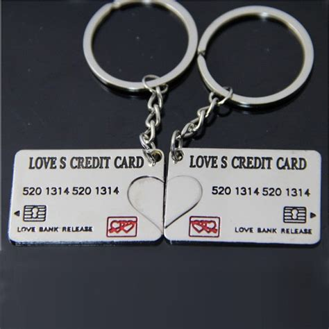 Card Template Key Chain by Lovely Credit Card Forever Key Chain Keyring Keyfob Lover