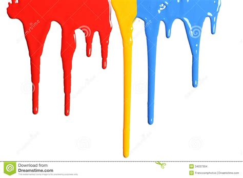 paint drip texture paint in primary colors stock images image