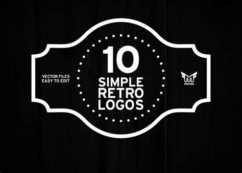 simple retro logo graphics creative market