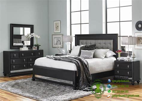 Tempat Tidur Minimalis Set set tempat tidur minimalis warna hitam jati pribumi