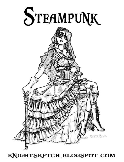 sexy steunk coloring coloring pages