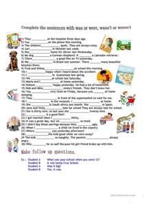 was or were worksheet free esl printable worksheets made