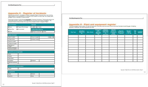 safe work plan template safety management plan template images
