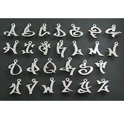 Cool Style Graffiti Alphabet Letters In A Necklace