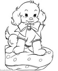 Christmas puppies coloring pages