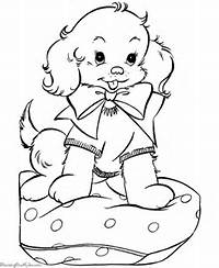 Puppy For Christmas A Free Printable Coloring Page