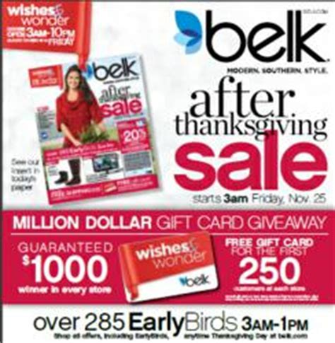Belk 1000 Gift Card - belk giving away 1 million in belk gift cards to after thanksgiving day shoppers