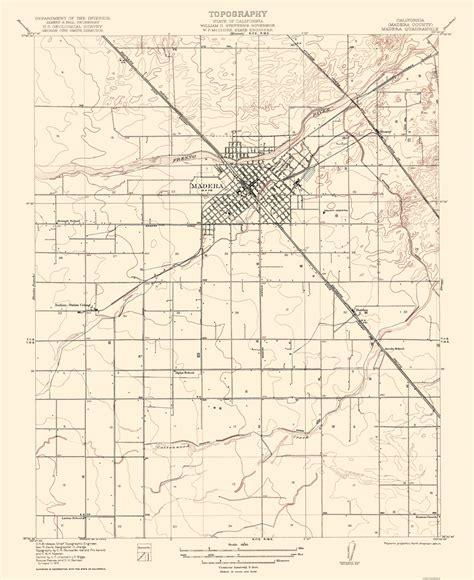 california quadrangle map historical topographical maps madera california