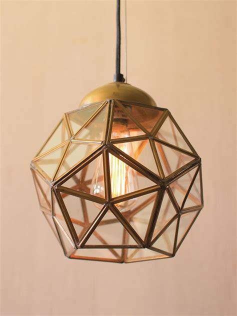 gold geometric pendant light gold glass geometric medium pendant light modern