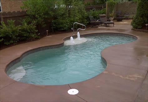 small inground pools small fiberglass inground pool backyard design ideas