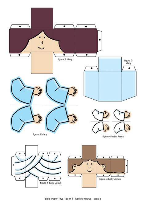 Papercraft Books - my house bible paper toys book 1 nativity figures