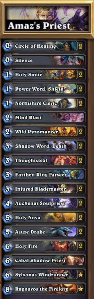 priest deck hearthstone iem hearthstone winning deck with druid priest product