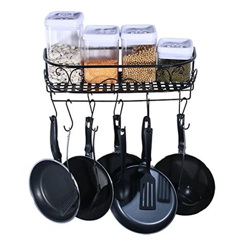 Hanging Pot Organizer Hanging Pot Holder Pan Hanger Cookware Hook Rack Iron