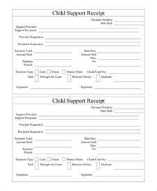 Child Support Template by 15 Receipt Templates Free Premium Templates