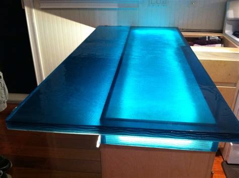 Blue Glass Countertops blue wave glass counter top modern kitchen other metro by artistic glass solutions