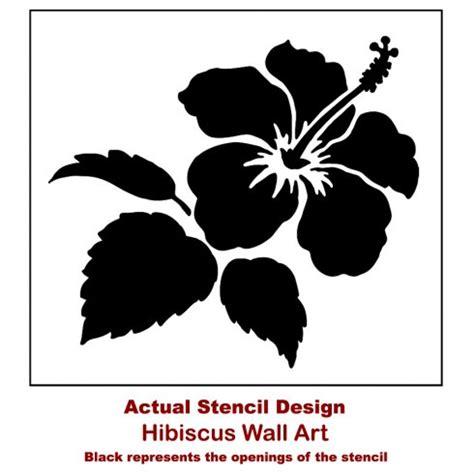 hibiscus flower stencil floral stencil designs flower