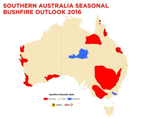 southern australia map southern australia seasonal bushfire outlook 2016