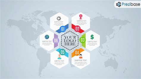 prezi templates free free hexagon style layout world infographic prezi template