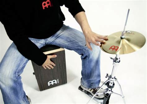 cajon cymbal meinl candela percussion hihat for cajon players x8 drums