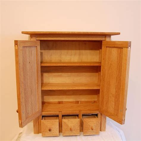 Country Medicine Cabinets Custom Country Oak Three Drawer Spice Medicine Cabinet By