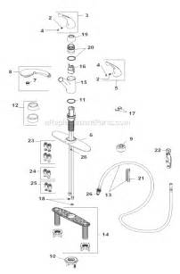 delta kitchen faucet parts diagram delta faucet 470 we dst parts list and diagram