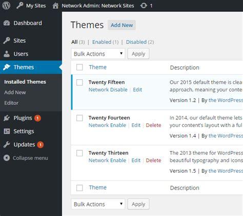theme editor wordpress multisite wordpress multisite guide