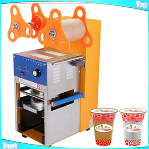 Plastik Cup Sealer free shipping automatic cup sealing machine tea cup